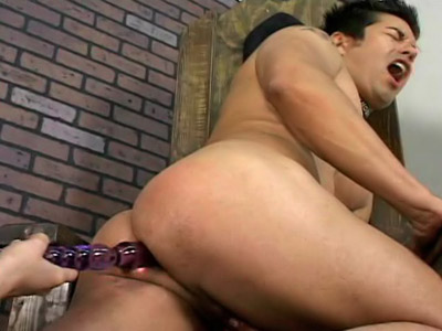 Latin mistress initiating guy into strapon slavery
