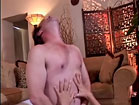 Enjoying steamy anal ride with strapon dildo in ass